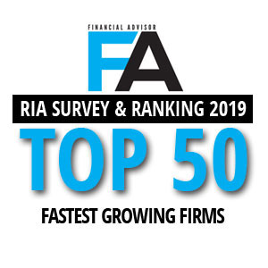 FA MAG TOP 50 RIA FASTEST GROWING FIRMS 2019